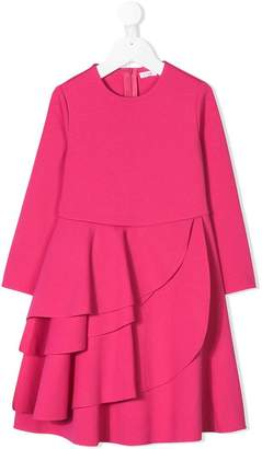 Il Gufo long-sleeve ruffle dress