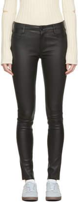 Mackage Black Leather Peppa Pants