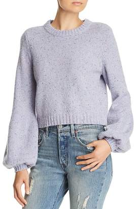 Milly Balloon-Sleeve Sweater