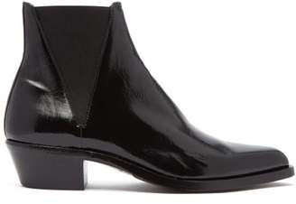 Saint Laurent Dakota Leather Chelsea Boots - Mens - Black