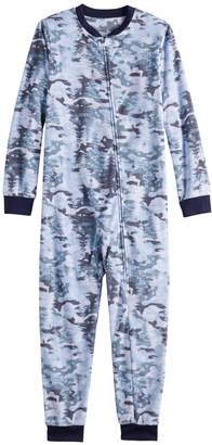 c9e84236f7 Kids Jammies For Your Families Holiday Camouflage Microfleece One-Piece  Pajama Set