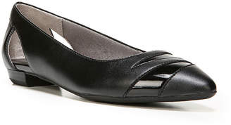 LifeStride Womens Zanza Ballet Flats Slip-on Pointed Toe