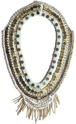 Mignonne Gavigan Layne Beaded Chiffon Scarf Necklace