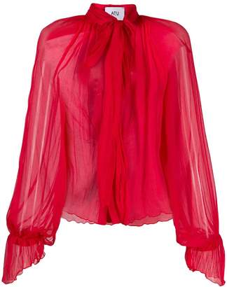 Couture Atu Body silk pussybow blouse