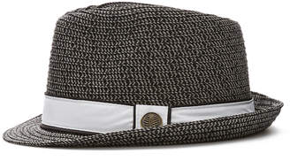 Cubavera Black Fedora with White Ribbon