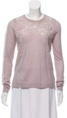Rebecca Taylor Long Sleeve Lace Sweater