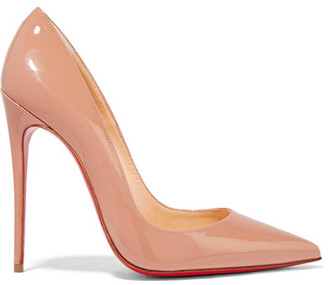 Christian Louboutin - So Kate 120 Patent-leather Pumps - Beige $675 thestylecure.com