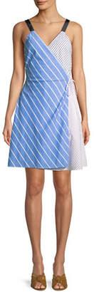 Joie Editha Striped Sleeveless Wrap Dress