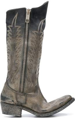 Golden Goose distressed zipped western boots