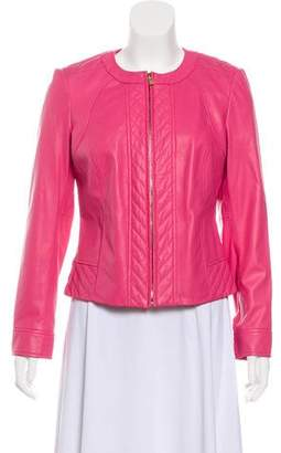 Tory Burch Leather Quilted Jacket