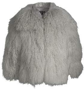 Adrienne Landau Monoglian Lamb Jacket