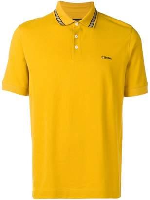 Ermenegildo Zegna contrast logo polo shirt