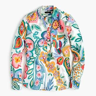 J.Crew Tall classic popover shirt in Ratti® floral
