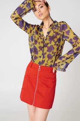 NA-KD Na Kd Front Zipped Mini Skirt