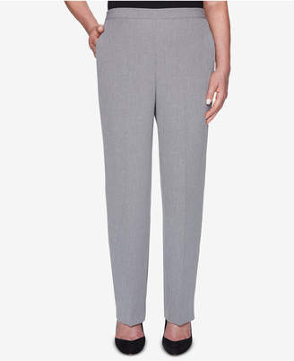 Alfred Dunner Petite High-Rise Straight-Leg Trousers