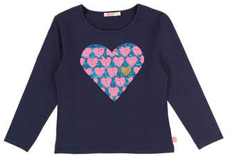 Billieblush Long-Sleeve Sequin Heart Tee, Size 4-8