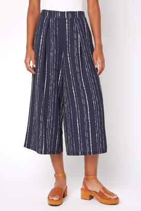 Skies Are Blue Stripe Printed Wide Leg Cropped Pant