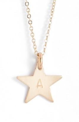 Women's Nashelle 14K-Gold Fill Initial Mini Star Pendant Necklace $60 thestylecure.com