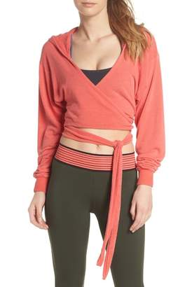 Free People MOVEMENT Hang Loose Hooded Wrap Top