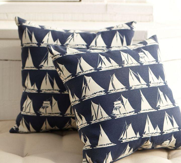 Ship Ahoy Outdoor Pillow