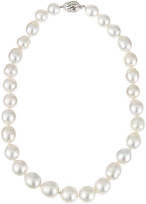 Belpearl 14k Graduated White South Sea Pearl Necklace, 12-15mm