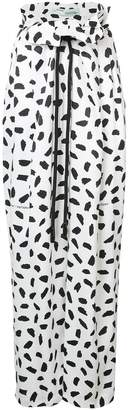 Off-White printed wide-leg trousers