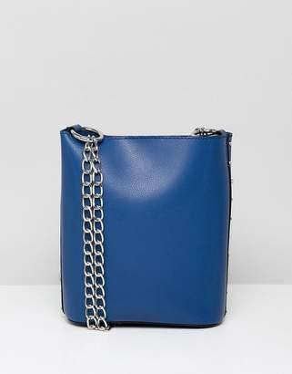 Asos DESIGN stud side mini bucket cross body bag