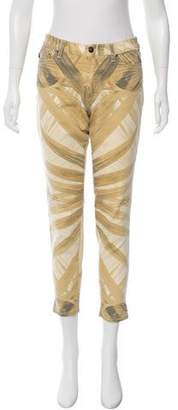 Just Cavalli Abstract Print Cropped Jeans