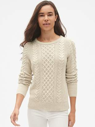 Gap Cable-Knit Crewneck Pullover Sweater