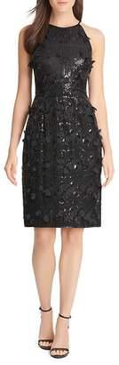 Eliza J Sequin & Petal Appliqué Dress
