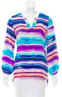 Amanda Uprichard Striped Print Long Sleeve Top