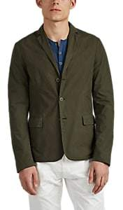 Tomas Maier MEN'S WASHED POPLIN THREE-BUTTON SPORTCOAT