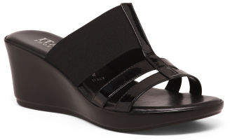 cb06e59f110 Black Stretch Wedge Shoes - ShopStyle
