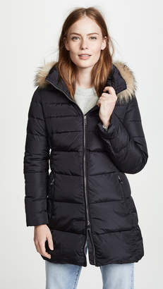 ADD Hooded Down Coat with Fur