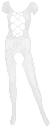Aerusi AERUSI Women's Adult Lingerie Night Wear Fishnet Body Stocking