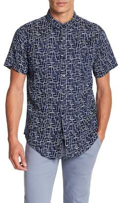 Onia Jack Short Sleeve Print Woven Regular Fit Shirt