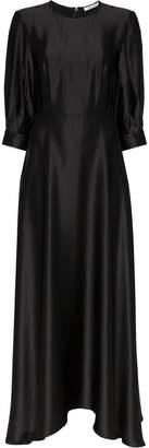 Deitas ada puff sleeve silk dress
