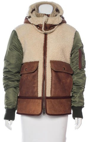 MonclerMoncler Delagrange Shearling Jacket