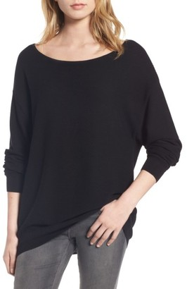 Women's Bp. Boatneck Rib Knit Pullover $39 thestylecure.com