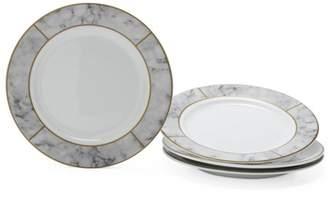MoDRN Glam Mason 4 Piece Dinner Plate Set, White