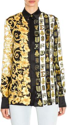 Versace Printed Silk Blouse