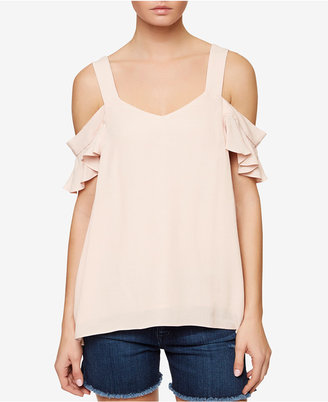 Sanctuary Annie Ruffled Cold-Shoulder Top $69 thestylecure.com