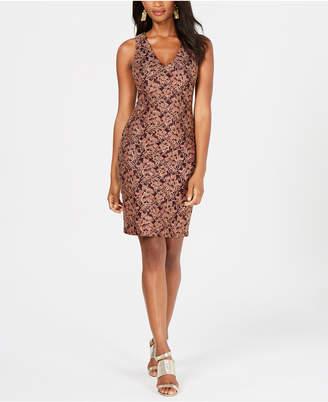 GUESS Metallic Lace Bodycon Dress