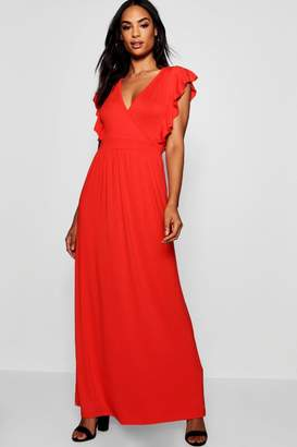 boohoo Tall Angel Sleeve Maxi Dress