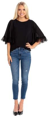 Rachel Parcell Parisian Petal Sleeve Top