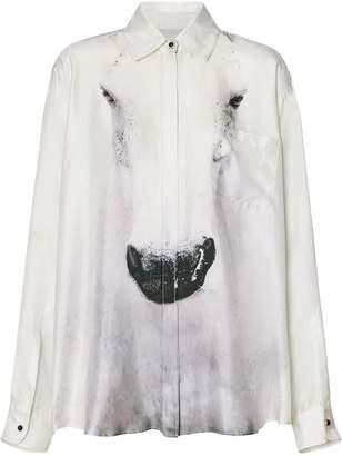 Burberry Unicorn Print Silk Shirt