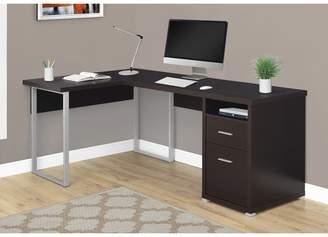 Latitude Run Darcio 2 Drawer L-Shape Corner Desk