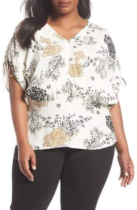 Sejour Cinched Sleeve Tunic (Plus Size)