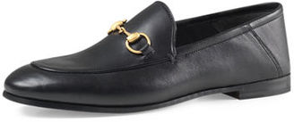 Gucci Brixton Leather Horsebit Loafer, Black $630 thestylecure.com