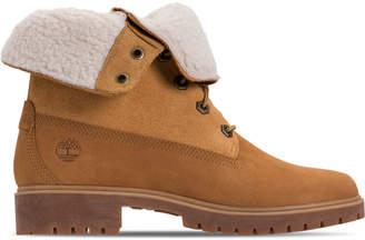 Timberland Women's Jayne Waterproof Fleece Fold-Down Boots